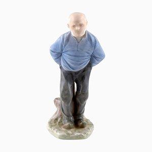 Porcelain Older Man Figuren Nummer 1001 von Royal Copenhagen, frühes 20. Jahrhundert