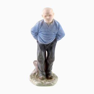 Porcelain Older Man Figurine Number 1001 from Royal Copenhagen, Early 20th Century