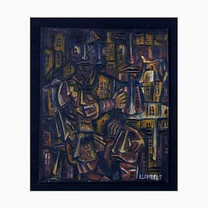 Oil on Canvas Abstract by Lambert, 20th century