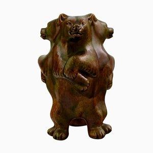 Danish Bear Vase by Karl Hansen Reistrup for Kahler, 1900s