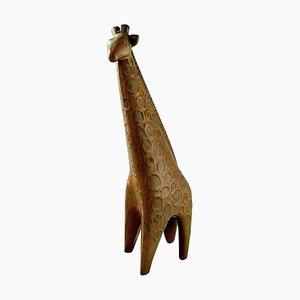 Swedish Giraffe Zoo Figure Glazed Pottery by Lisa Larsson for Gustavsberg