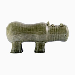 Hippopotamus Rare Figure by Lisa Larson Gustavsberg, 20th Century