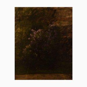 Flowers in Landscape Oil on Board, Early 20th Century