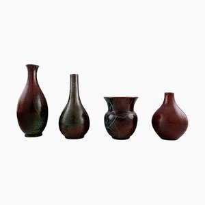 German Glaze Ceramic Vases by Richard Uhlemeyer, 1940s, Set of 4
