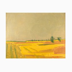 Landscape Öl auf Leinwand von Axel P. Jensen, 20. Jahrhundert