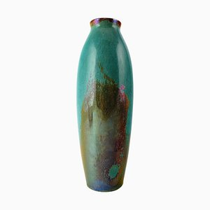 French Ceramic Vase with Glaze from Rambervillers, 20th Century