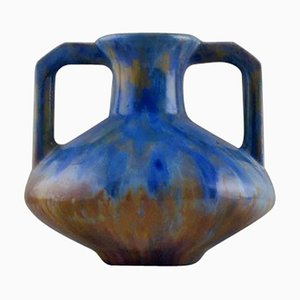 Vase en Céramique de Pierrefonds, France, 1930s