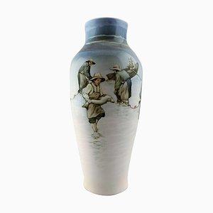 Large Art Nouveau Porcelain Vase by Nils Emil Lundström for Rörstrand