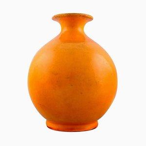 Round Vase in Glazed Stoneware by Svend Hammershøi, 1930s