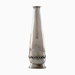 Modernistische Schwedische Vase aus Sterlingsilber von Rey Urban, 1958