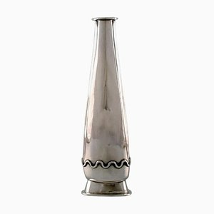 Swedish Modernist Vase in Sterling Silver by Rey Urban, 1958