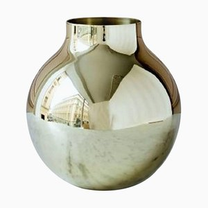 Large Boule Vase in Brass by Olivia Herms for Skultuna