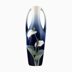 Art Nouveau Vase Decorated with Flowers from Royal Copenhagen, Early 20th Century