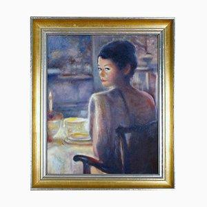 Ölgemälde auf Tafel Portrait of Actress Catherine Zeta Jones, 1990er