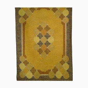 Schwedischer Teppich von Ingegerd Silow für Röllakan, 1960er