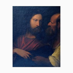 19th Century Oil on Canvas Biblical Motif after Titian