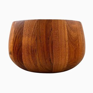 Large Staved Teak Bowl by Jens Quistgaard, 20th Century