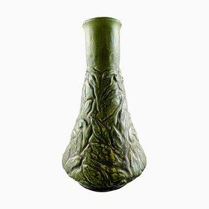 Glasierte Steingut Vase von Kähler, 1905