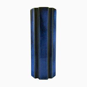 Large Octagon Vase in Glazed Ceramic by Karin Björquist for Gustavsberg, 1960s