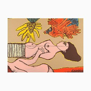 Cobra Artist Color Lithography by Corneille, 1999
