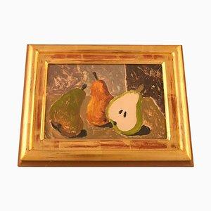 Still Life with Pears Gouache & Cardboard by Eric Cederberg