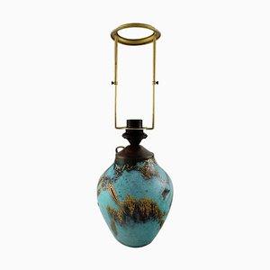 Gold pigmentierte Art Deco Bronze Ikora Tischlampe von WMF
