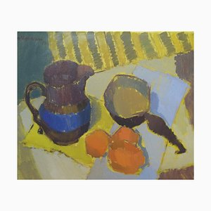 Modernist Still Life with Jug and Oranges by Nils Moreau