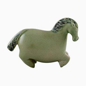 Horse Figure of Stoneware by Stig Lindberg for Gustavsberg, 1950s
