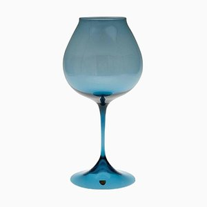 Blue-Tinted Tulip Glass by Nils Landberg for Orrefors, 20th Century