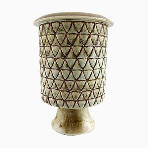 Keramikvase von Stig Lindberg für Gustavsberg, 1960er