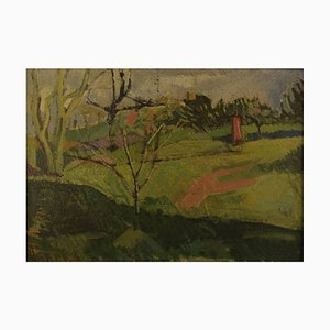 Huile sur Toile Moderniste, France, 1944