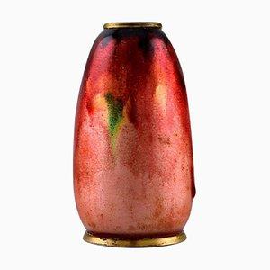 Antike französische Jugendstil Vase aus Bronze von Alexandre Marty für Limoges, 1910