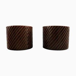 Domino Vasen aus Keramik von Stig Lindberg für Gustavsberg, 1950er, 2er Set