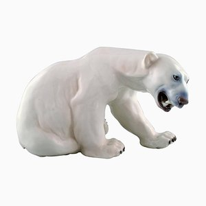 Polar Bear in Porcelain No. 1857 by Knud Kyhn for Bing and Grondahl, 20th Century