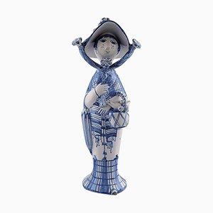 Autumn in Blue Seasons Ceramic Figure by Bjørn Wiinblad, 2002