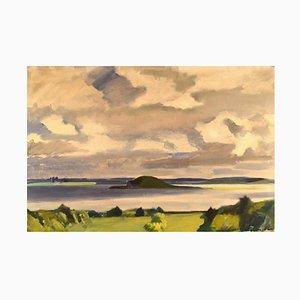 Danish Modernist Landscape by Thorvald Hagedorn-Olsen, 1940s