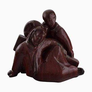 Große Figurengruppe mit Jesus von Johannes Hedegaard für Royal Copenhagen, 1949
