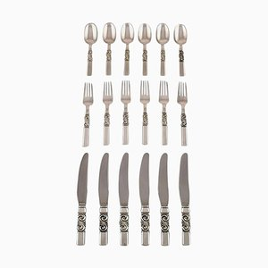 Cutlery Scroll No. 22 from Georg Jensen, 1940s, Set of 18