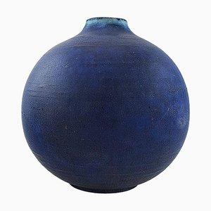 Große sphärische Keramikvase in modernem Design von Saxbo, 1930er