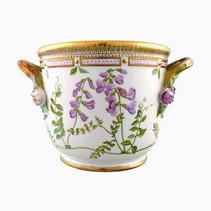 Large Flora Danica Porcelain Wine Cooler from Royal Copenhagen, 20th Century