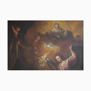 18th Century Biblical Scene Oil Painting on Canvas