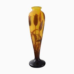 Large Antique Art Nouveau Vase by Paul Nicolas & Nancy for D'argenta