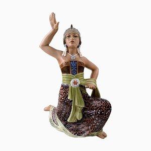 Danish Oriental Figurine Sumatra Dancer 1208 by Dahl Jensen, 1930s
