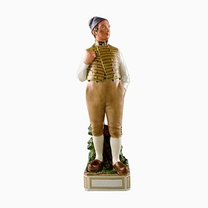 Porcelain Figurine of Male in National Dress by Carl Martin-Hansen for Royal Copenhagen, Early 20th C