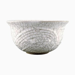 Crackled Bowl in Glazed Stoneware by Axel Salto for Royal Copenhagen, 1940s