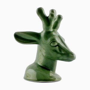 Glazed Stoneware Deer by Axel Salto for Royal Copenhagen, 20th Century