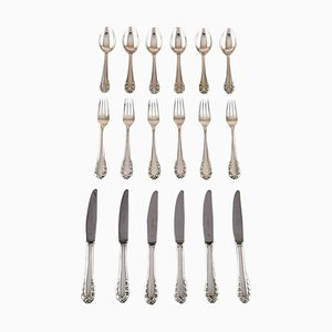 Georg Jensen Sterling Silver Lily of the Valley Cutlery, 1940s, Set of 18
