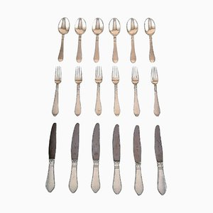 Continental Lunch Silver Service from Georg Jensen, 1940s, Set of 18