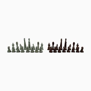 Complete Set of Chess Pieces in Ceramic by Sven Wejsfelt for Gustavsberg, 1980s, Set of 32