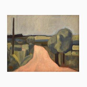Modernistische Landschaft Öl auf Leinwand von Harald Giersing, 1920er